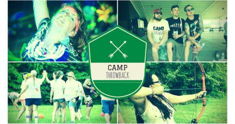 Nostalgia-Inducing Summer Camps - Camp Throwback Gives Campers a Break from Adult Responsibilities