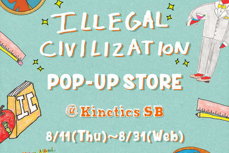 Rapper-Endorsed Streetwear Pop-Ups - Illegal Civilization's Tokyo Store Will Host Exclusive Apparel