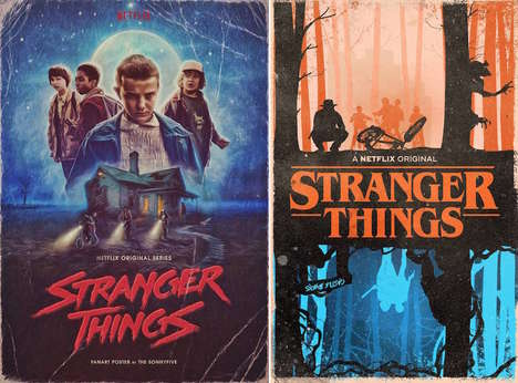 Science Fiction Fan Posters - These Stranger Things Posters Show How Viewers Interpreted the Series