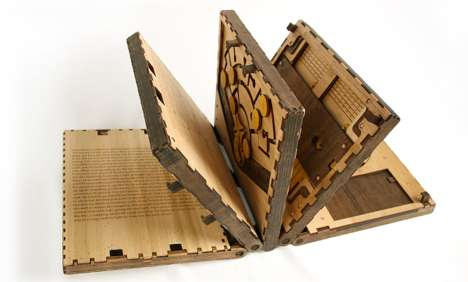 Wooden Puzzle Books - Once Each of These Puzzles is Solved, the Next is Unlocked