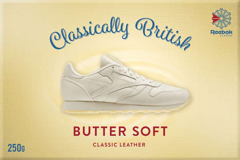 Butter-Inspired Sneaker Ads - Reebok's 'Classically British' Ads Promote the Softness of Leather