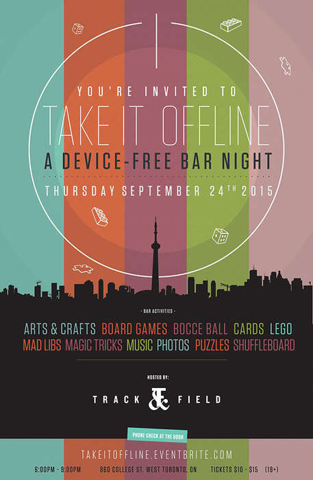 Device-Free Bar Nights - This Toronto Bar Hosted a Tech-Free Event to Help Guests Unplug