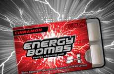 Caffeinated Chewing Gums - Energy Bombs' New Caffeine Gums are Infused With Essential Vitamins