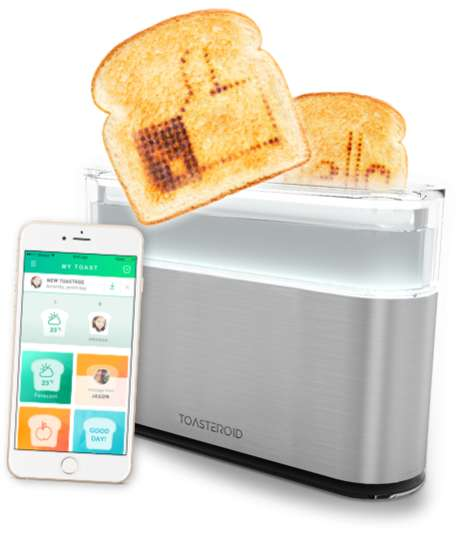 Message-Engraving Toasters - This Smart Toaster Can Print Messages and Images Onto Your Toast