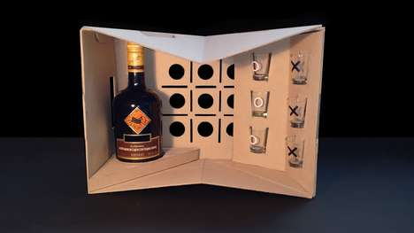 Drinking Game Tequila Packaging - This Packaging Can Be Used to Ship Tequila Bottles and Play Games