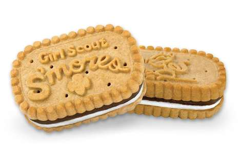 S'mores-Inspired Cookies - Girls Scouts Announced S'mores Cookies for National S'mores Day