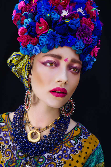 Worldly Headdress Photography - The 'Etno' Series Shows Each Woman Adorned in a Beautiful Headdress