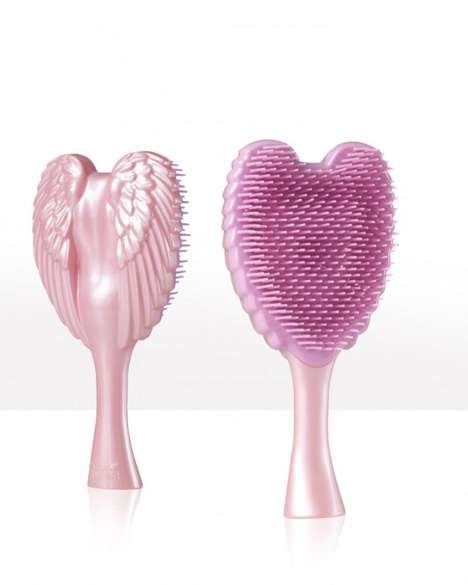 Winged Detangling Hairbrushes - The Tangle Angel Detangles Hair And is Made Entirely of Plastic