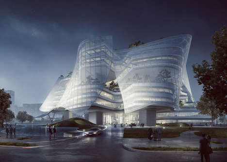 "Anatomically Inspired Buildings - The 'Xinhee Design Center' Will be Built with ""Skin"" and ""Bones"""