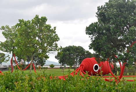 Giant Squid Art Installations - 'Vernie' is an Interactive Squid Art Piece Focused on Audio & Sound