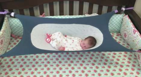 Infant-Protecting Beds - This Tiny Hammock Aims to Encourage Healthy Development in Babies