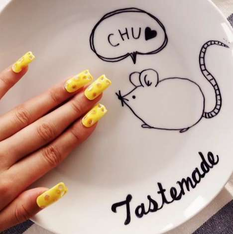 Cheesy Nail Designs - These Swiss Cheese Nails are a Holey Manicure Option