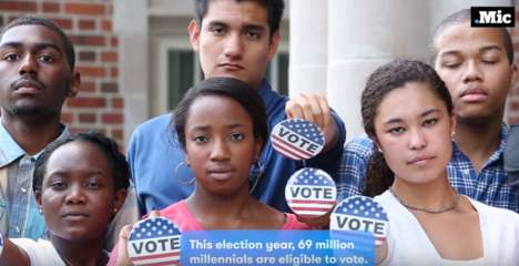 Millennial Voter Campaigns - Mic Has Released a #69thevote Ad Pushing Millennials To Vote