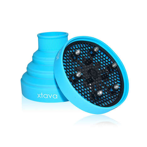 Collapsible Hair Dryer Diffusers - xtava's Collapsible Silicone Diffusers are Ideal for Mobile Use