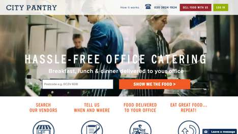 Corporate Catering Platforms - City Pantry Makes It Easier For Companies to Order In Food
