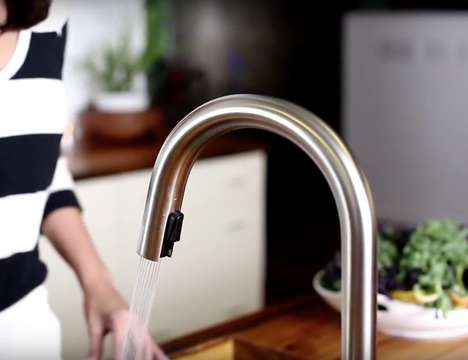 Intuitive Smart Faucets - The Solna SmartTouch Seamlessly Turns On and Off By Sensing Gestures