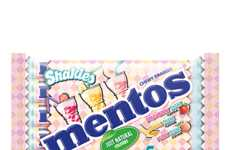 Milkshake-Inspired Mint Packaging - The Packaging for Mentos Shakies Reflects the Fun Flavors Inside