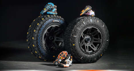 Footwear-Inspired Tire Concepts - The 'DynaSync' Concept Tire Uses Treads Based on Hiking Shoes