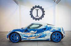 'Garage Italia Customs' Designed a Wave-Inspired Alfa Romeo 4C