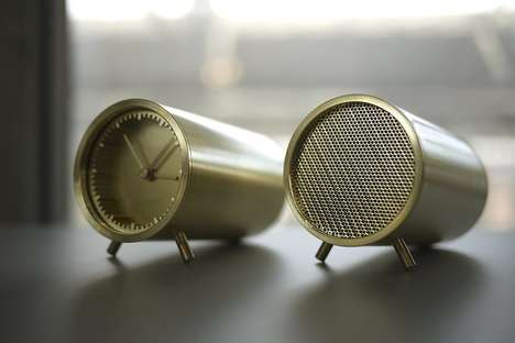 Tubular Timepiece Speakers - The Tube Audio Bluetooth Provides a Music System As Well as a Clock