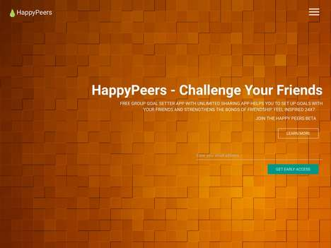Friendly Goal Apps - The Inspirational HappyPeers App Helps Friends With Group Goal Setting