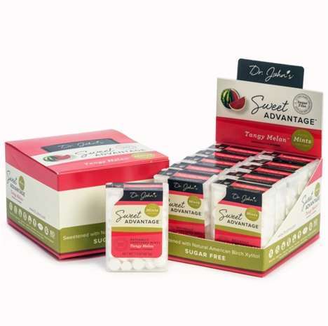Cavity-Fighting Breath Mints - Dr. John's Tangy Melon Mints Contain Cavity-Fighting Xylitol
