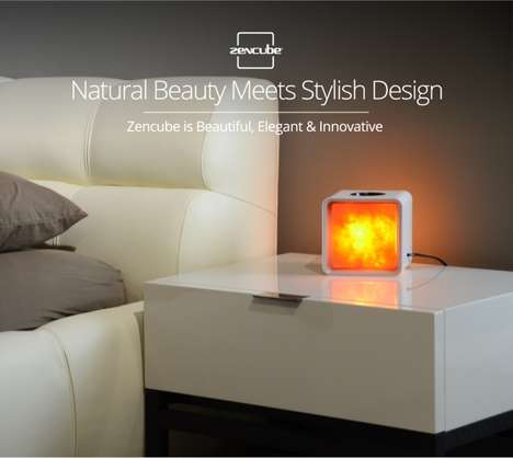 App-Connected Salt Lamps - The 'Zencube' is a Stylish and Healthy Home Accessory