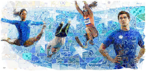 Olympic Mosaic Murals - Charis Tsevis Designed Mosaic Murals for the USA House in Rio