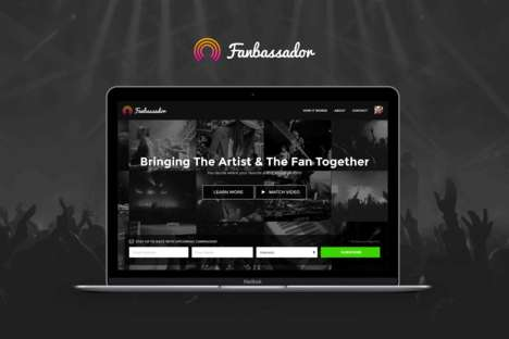 Crowdfunding Concert Apps - The 'Fanbassador' App Lets Music Fans Bid for Local Shows