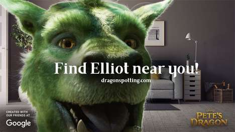 Promotional AR Kids Games - 'Dragon Spotting' Helps Promote 'Pete's Dragon' to Kids with Smartphones