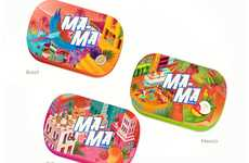 Exotic Mint Branding - These Mint Tins are Inspired by Tropical Tourist Destinations