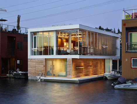 Floating Modern Homes - This Contemporary Home Was Designed for Lovers of Boating