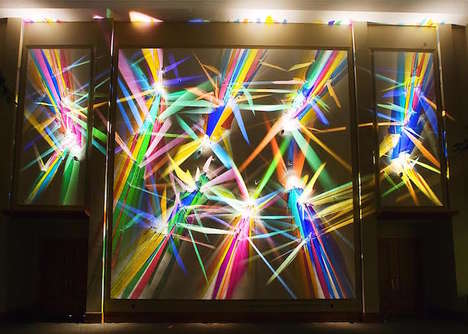 Prismatic Technicolor Paintings - Stephen Knapp's 'Lightpaintings' Feature Intricate Light and Glass