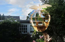 This Treehouse is Shaped Like an Apple & Features a Periscope for Spying