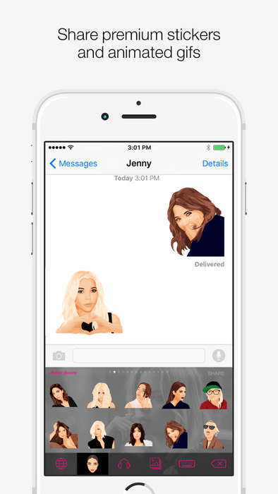Emotive Actress Keyboards - Ashley Benzon Lets Fans Express Themselves Using Emojis of Her
