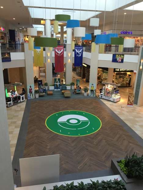 Anime Game-Accepting Malls - Colonie Center Has Redesigned Its Atrium to Be a Pokemon Go Arena