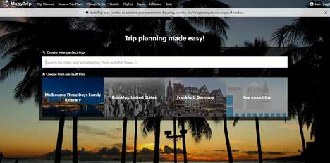 Vacation-Planning Apps - The 'MobyTrip' App Aggregates Vacation-Planning Sites