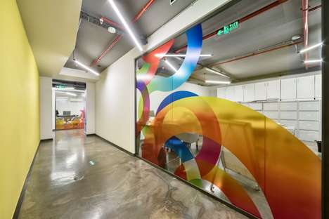 Vividly Graphic Office Spaces - This Office Features Cartoon-Like Graphics Throughout the Space