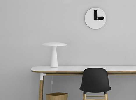Minimal Graphic Clocks - This Clock Looks More Like a Simple Graphic Than It Does a Functional Item