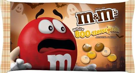Seasonal Butterscotch Chocolates - The New Boo-terscotch M&M's are Part of the Fall Flavor Lineup