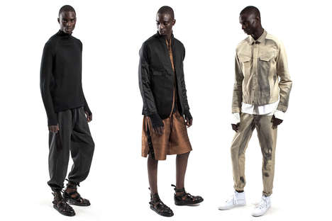Minimalist Metallic Menswear - Abasi Rosborough's Collection Features Dazzling Metallic Clothing