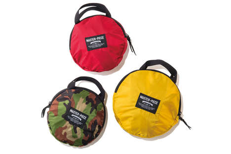 Stylish Collapsible Bags - The Pop'n'Pack Folds Down into a Tiny Circular Package to Free Up Storage