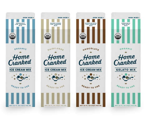 Homemade Ice Cream Mixes - These Cartons Offer a Variety of Mixes That Can Transform into Ice Cream