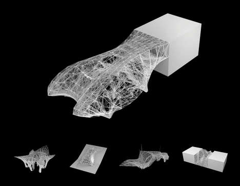 Webbed Building Materials - 'Growing Systems' Uses 3D Printing to Build Unique Structures