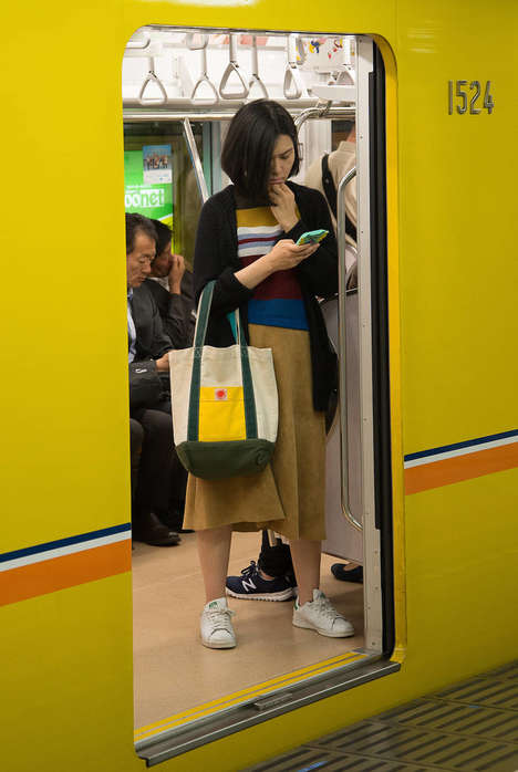Tokyo Transit Photography - Skander Khlif Expressively Exposed the Vibrant Japanese Subway System
