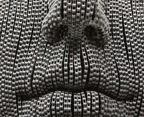 Lifelike Chain Sculptures