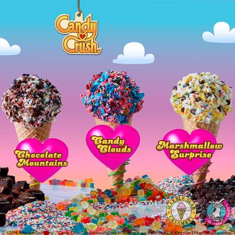 App-Inspired Ice Creams - Marble Slab's New Ice Cream Combinations are Inspired by a Mobile Game