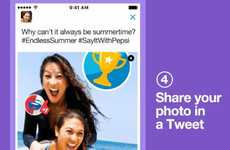 Branded Social Media Stickers - Twitter's 'Promoted #Stickers' Include Brands like Pepsi