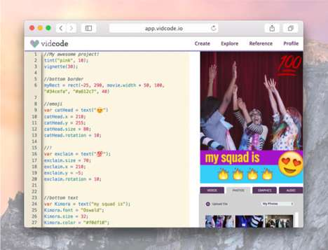 Social Media Coding Apps - 'Vidcode' Teaches Girls to Code by Incorporating Social Media Tropes