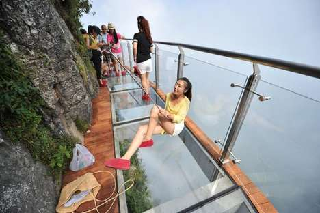 Transparent Cliffside Walkways - China's Coiling Dragon Cliff Skywalk Offers Terrifying Views